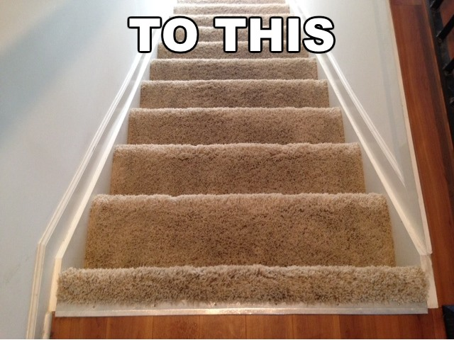 clean stairwell carpet